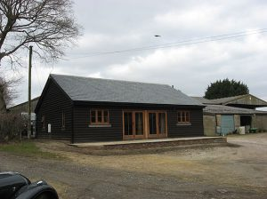 Architect conversion in Staplecross Sussex after front