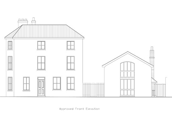 Drawing for proposed front elevation