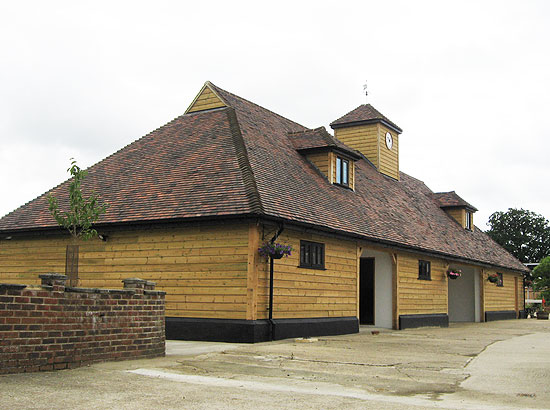 Architect for converted stables in Horsham, Sussex, front view