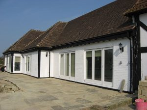 Architect for converted stables in Horsham, Sussex, rear view