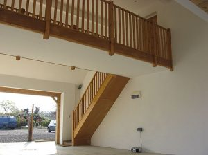 Architect for converted stables in Horsham, Sussex, stairs