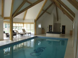 Architect for converted stables in Horsham, Sussex, swimming pool