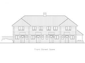 Architect Drawing Ardmore School Front Street Scene