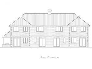 Architect Drawing Ardmore School Rear Elevation