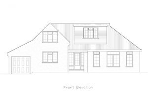 Architect Drawing for Hayling Rise in Worthing, Sussex, Front Elevation