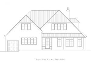Architect Drawing in Worthing, Hayling Rise Approved Front Elevation
