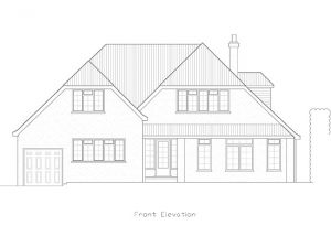 Architectural Drawing in Worthing, Sussex for Hayling Rise Front Elevation